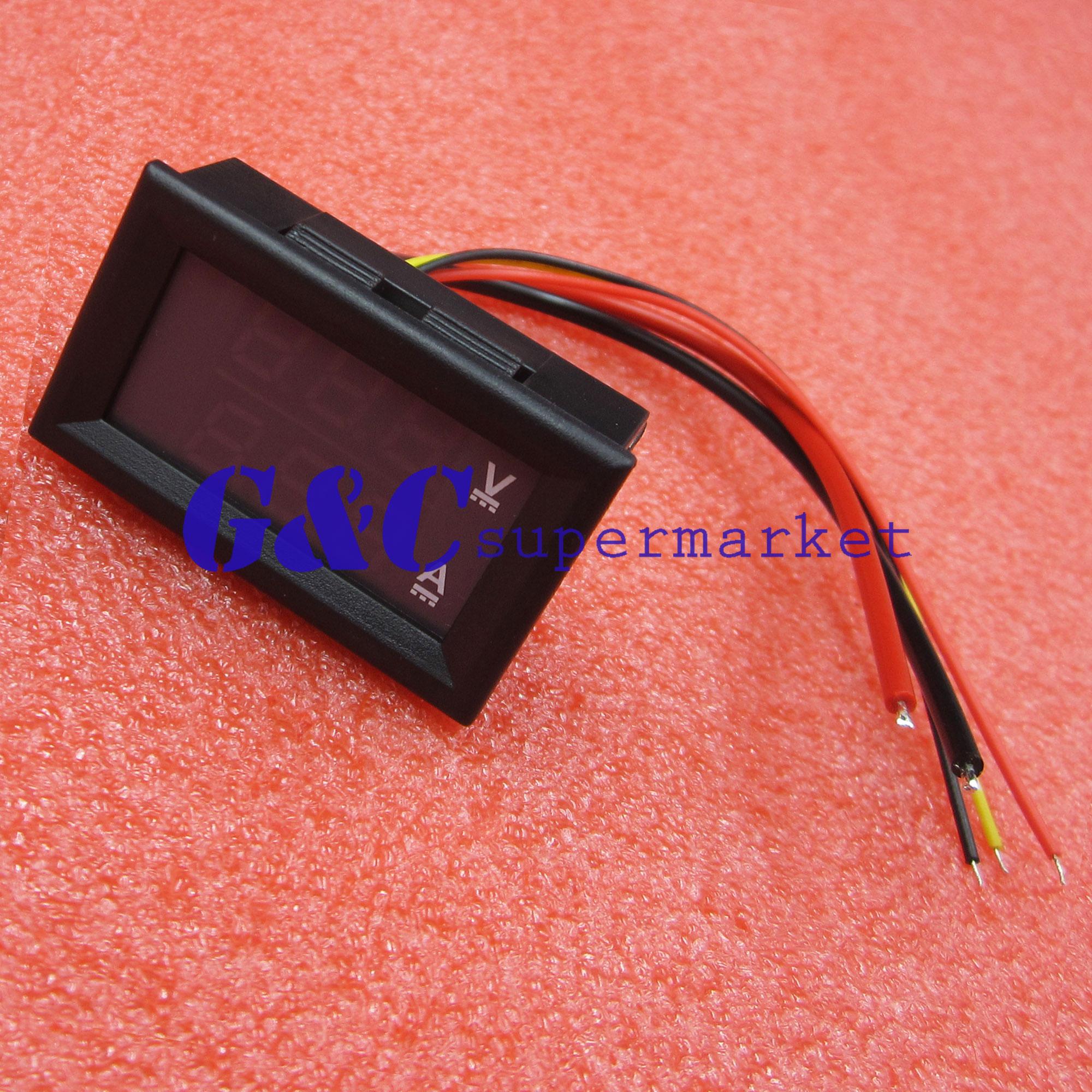 Integrated Circuits Devoted Dc 4.5-30v 0-50a Dual Led Digital Volt Meter Ammeter Voltage Amp Power Meter 12v Active Components