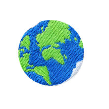 4.5CM Embroidered Patch Earth Sew Iron On Badge For Bag Jean