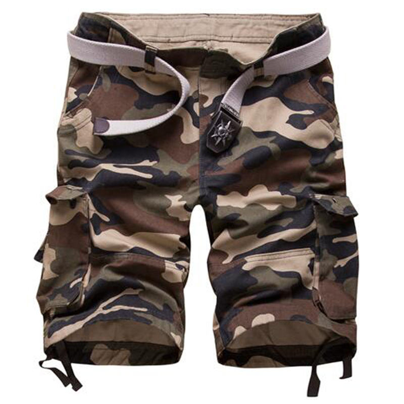 Hot Sale High Quality Mens Cargo Shorts Casual Cotton Military Camouflage Short Camo Bermuda homme Summer Big Size 29-42