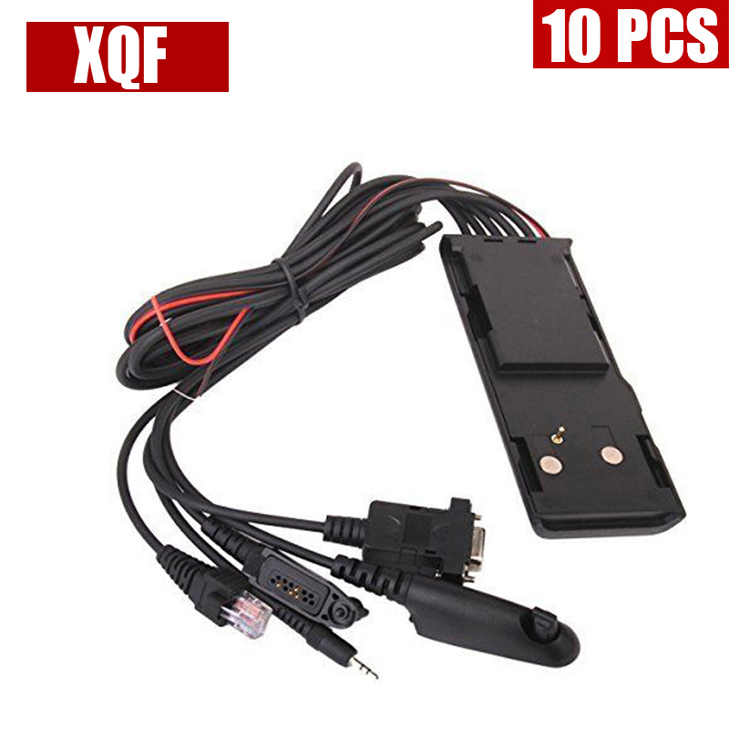 XQF 10PCS  Universal RIB-Less 5 IN 1 Programming Cable HKN9857 For Motorola Radios