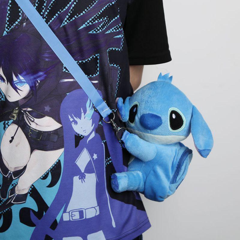 Cute Lilo Stitch stitch plush backpacks kawaii messenger bag cartoon bag