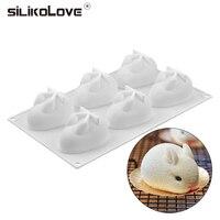 SILIKOLOVE новые формы для украшения торта силикона 3D Кролик силиконовая форма для торта Формы для выпечки для муссов и десертов 6 формы