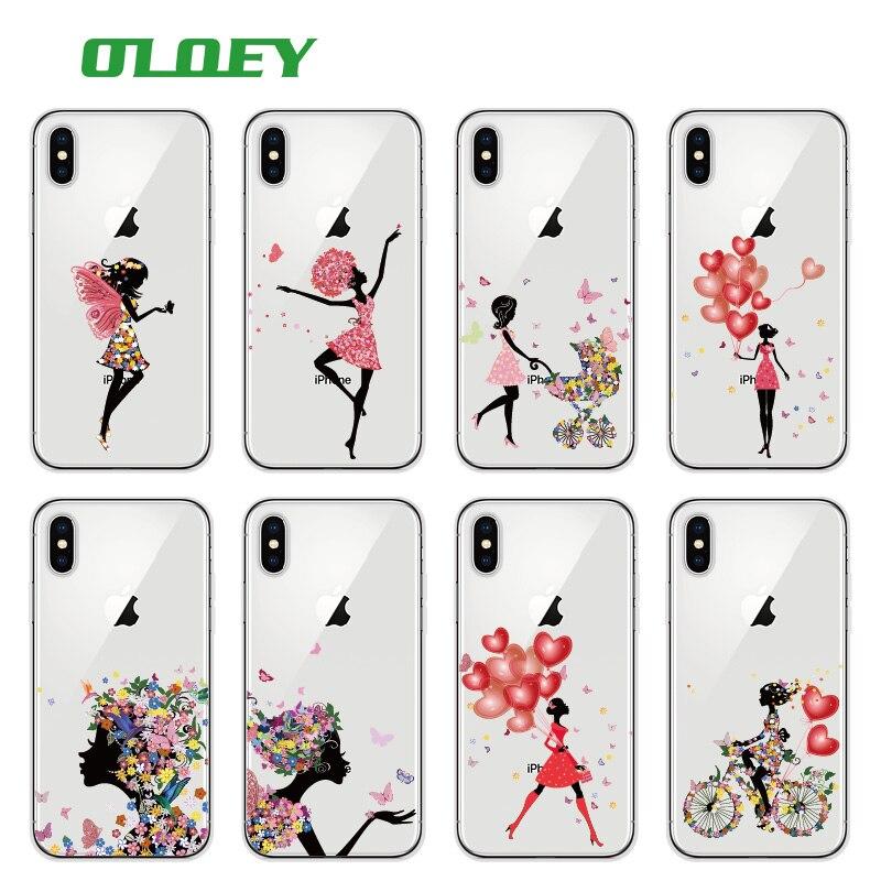 OLOEY Flower Fashion Girl Girly Floral Balloon Yoga Fresh secret Phone Case Fundas For iPhone 7Plus 7 6 8 8plus X XS Max SAMSUNG