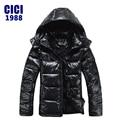 2016 Nueva llegada de los hombres de moda de invierno suelta encapuchados por la chaqueta Hombre chaqueta a prueba de viento Parka Abajo YY envío libre 150
