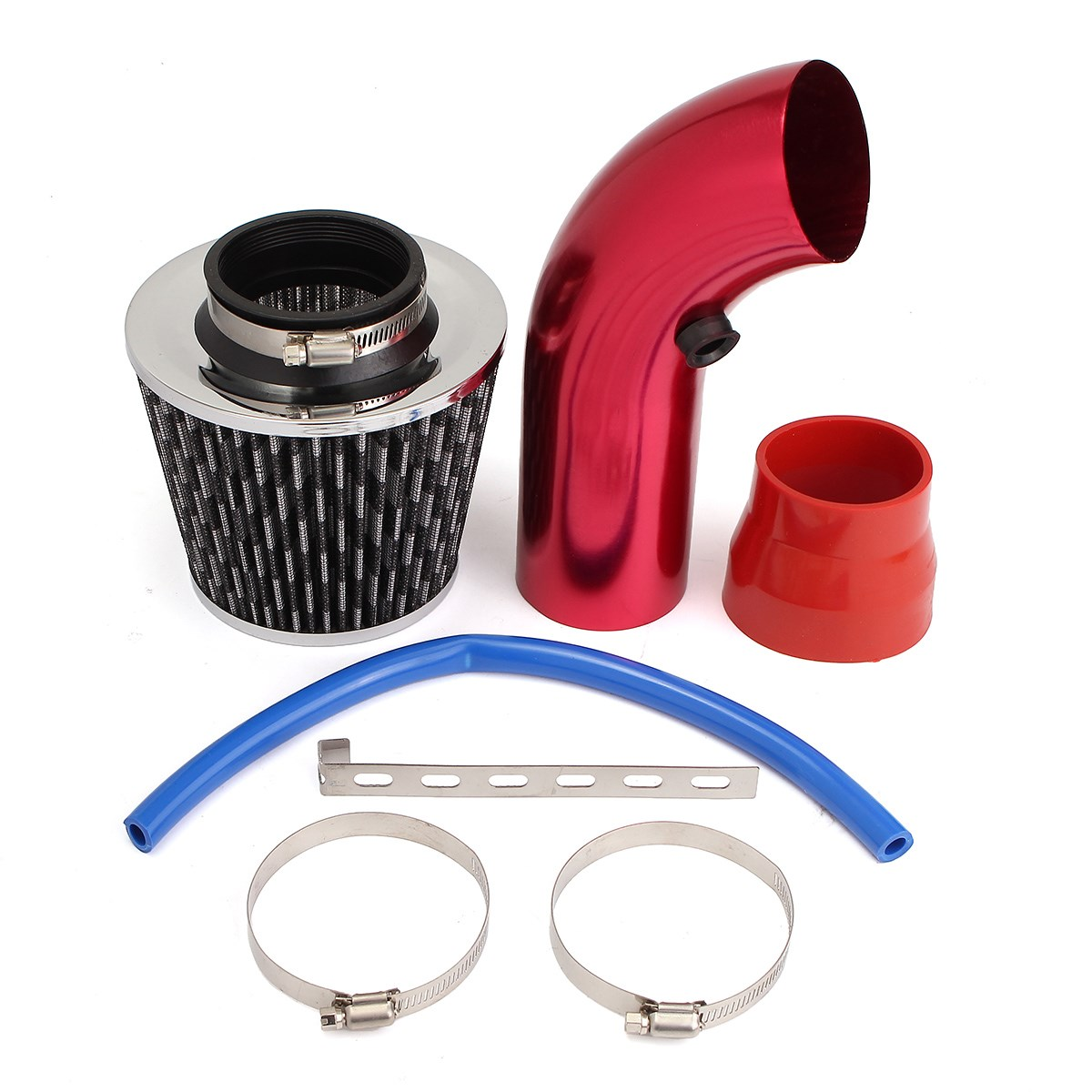 3 INCH 75mm Universal Short Racing High Flow Air Intake Kit Pipe + Filter + Clamp3 INCH 75mm Universal Short Racing High Flow Air Intake Kit Pipe + Filter + Clamp