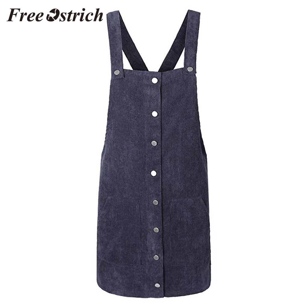 Free Ostrich 2019 Pink Wick Velvet Women Corduroy Straight Suspender Mini Bib Overall Pinafore Casual Button Free Ostrich 2019 Pink Wick Velvet Women Corduroy Straight Suspender Mini Bib Overall Pinafore Casual Button Dress Hot Sales