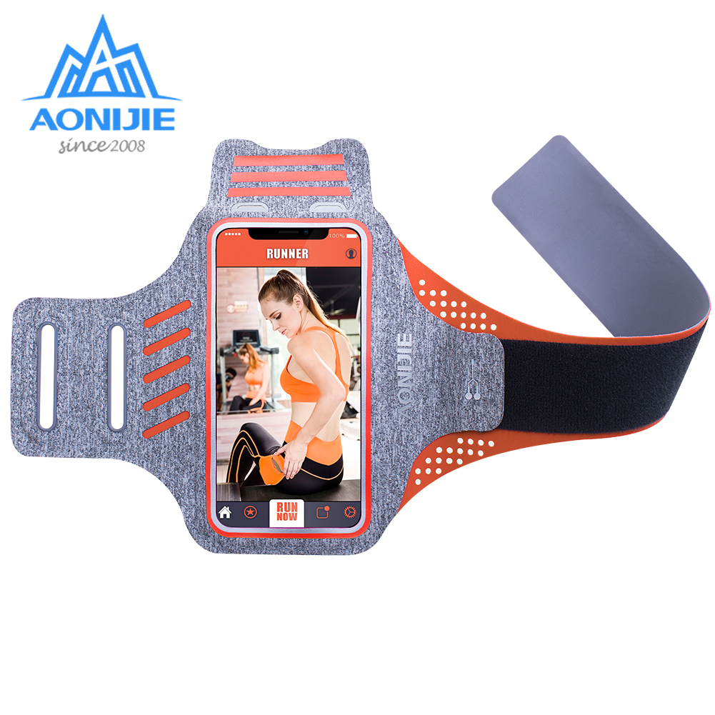AONIJIE A891 Water Resistant Cell Mobile Phone Sports Running Armband Arm Bag Jogging Case Holder Cover For Fitness Gym Workout
