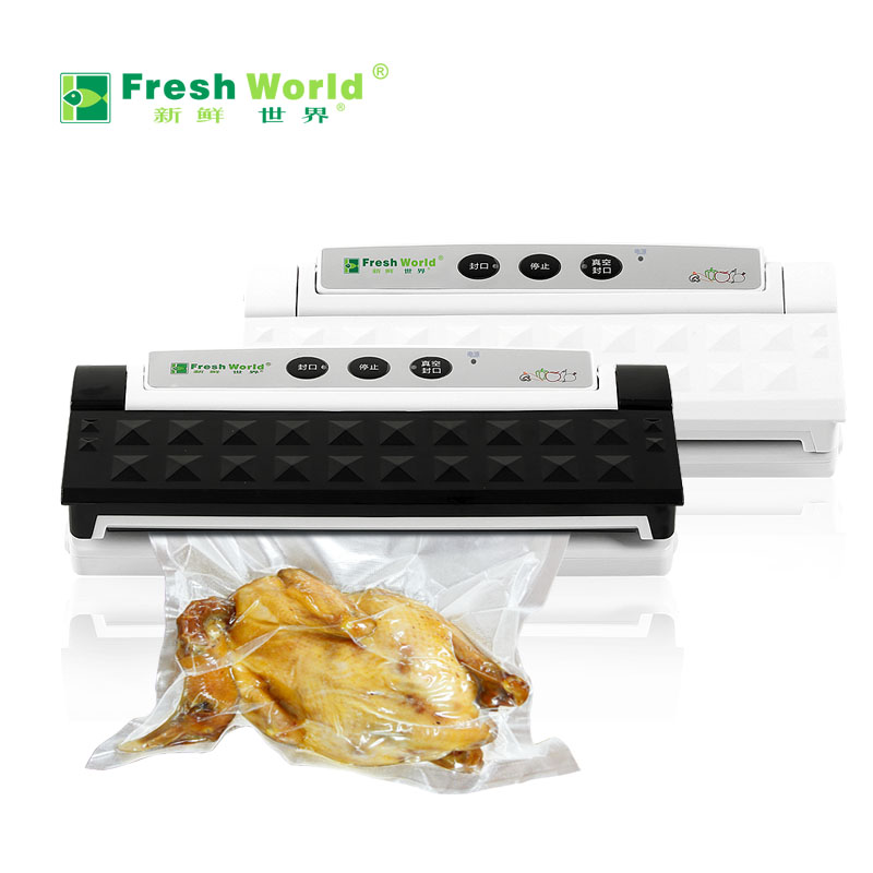 Small commercial household wet dry automatic food vacuum packaging Laminating machine free shipping full automatic dry wet dual purpose small household vacuum sealing machine plastic commercial food packaging