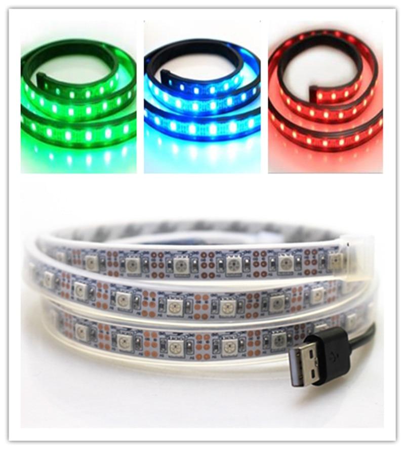 1M USB LED Strip İşıq piksel 5V SMD5050 w282812 60leds 60IC IP67 - LED işıqlandırma - Fotoqrafiya 1