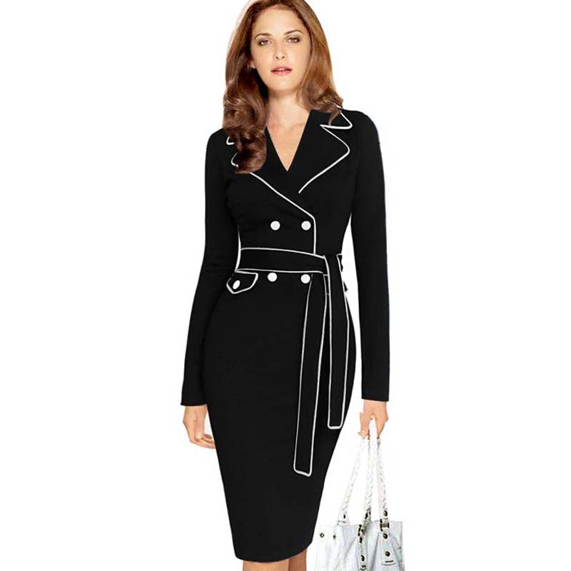 Lisli Business Work Suit Dress Casual Party Dresses Women Dress ...