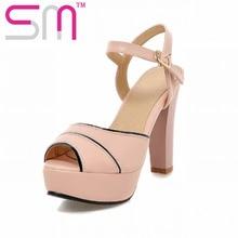 Big Size 32-43 Sexy Peep toe Mixed Color Women's Sandals High Heels Sandalias de Mujer Summer Shoes Woman Dress Platform Sandals
