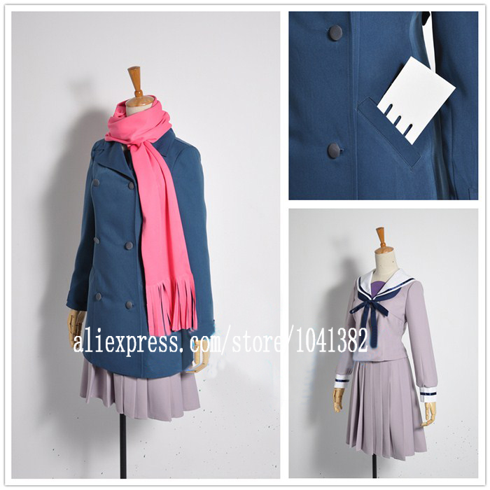 Free Shipping Cosplay Costume Noragami Iki Hiyori New in Stock Retail / Wholesale Halloween Christmas Party