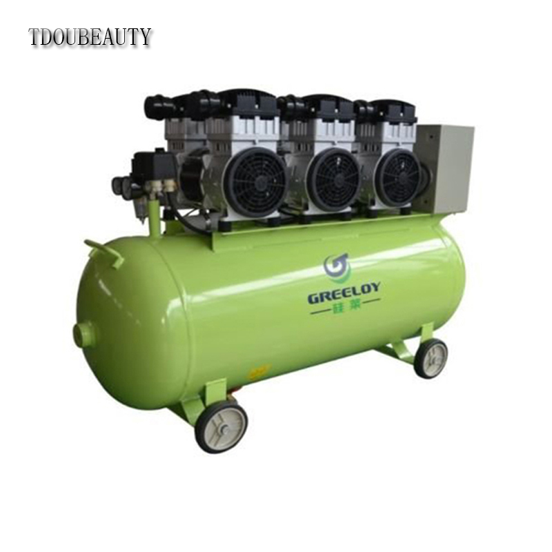 TDOUBEAUTY Widely Used Greeloy Dental Medical Silent Oil Free Air Compressor GA-63 One By FIVE Dental Chair Free Shipping tdoubeauty dental greeloy silent oil free air compressor ga 62 free shipping