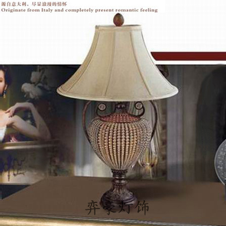 Handmade Crystal Beaded Ball Big Table Lamp Living Room