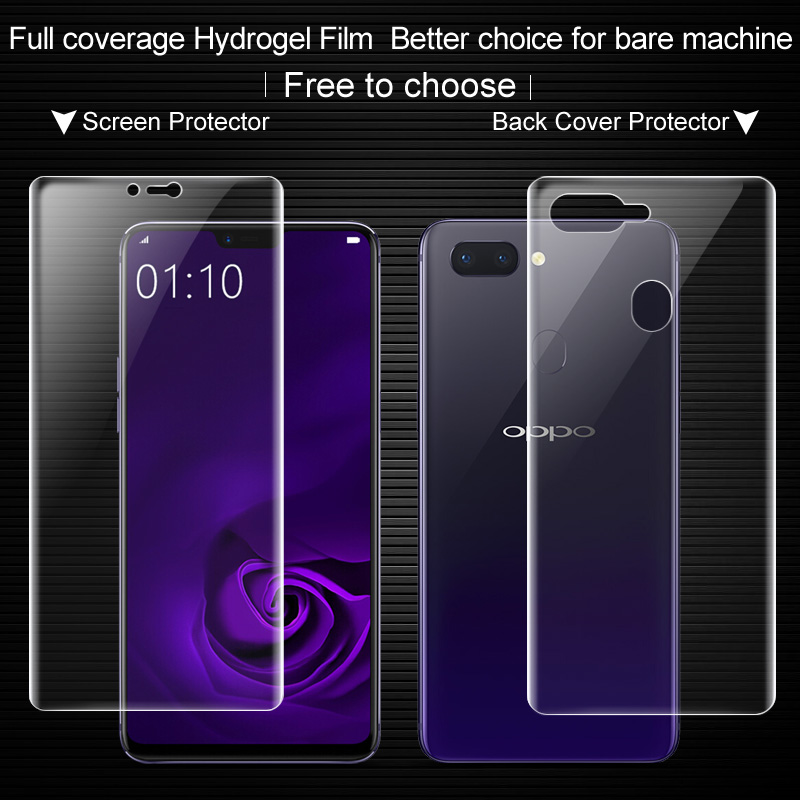 IMAK sFor OPPO R15 Screen Protector full coverage Front + Back hydrogel film No glass for OPPO R15