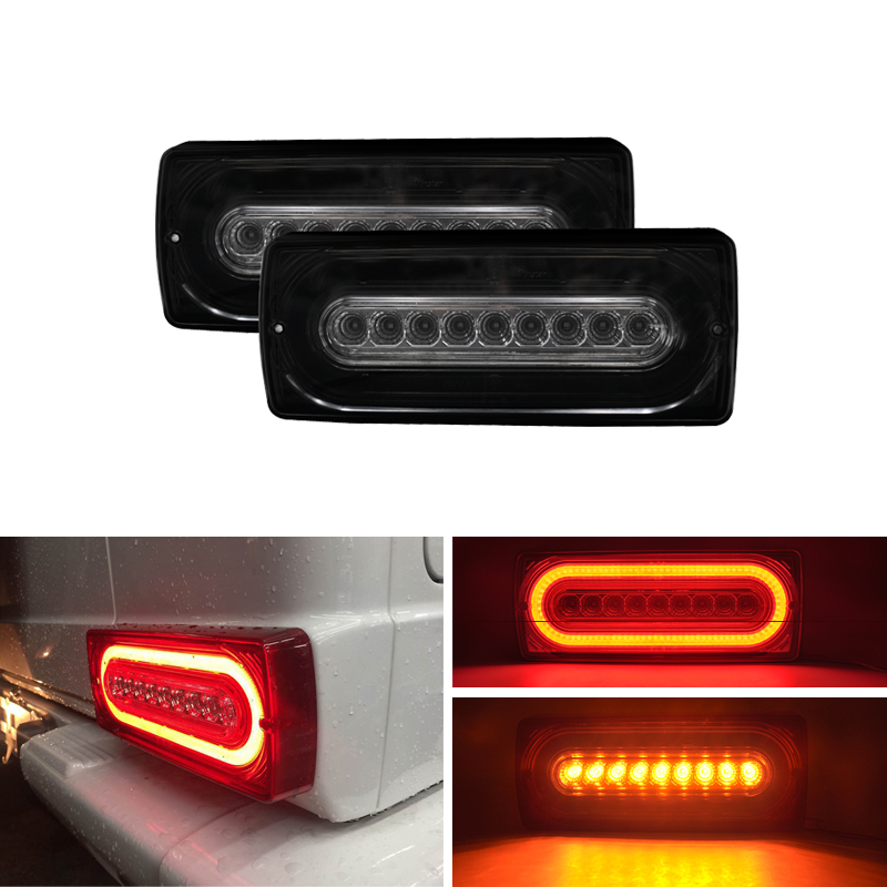 Fits For Benz W463 G-Class <font><b>G55</b></font> <font><b>AMG</b></font> G500 G550 Led Tail Light Assembly Kit Dynamic Turn Signal Rear Fog Running W/ Brake Lights image