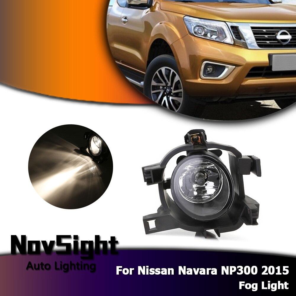 NOVSIGHT Auto voiture antibrouillard lampe conduite lampe ampoules halogène pour Nissan Navara NP300 2015 D35
