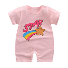 Summer Newborn Infant Baby Boy Girl Cotton Romper Cartoon Printed Short Sleeve Jumpsuit Kids Clothes Outfit(China)