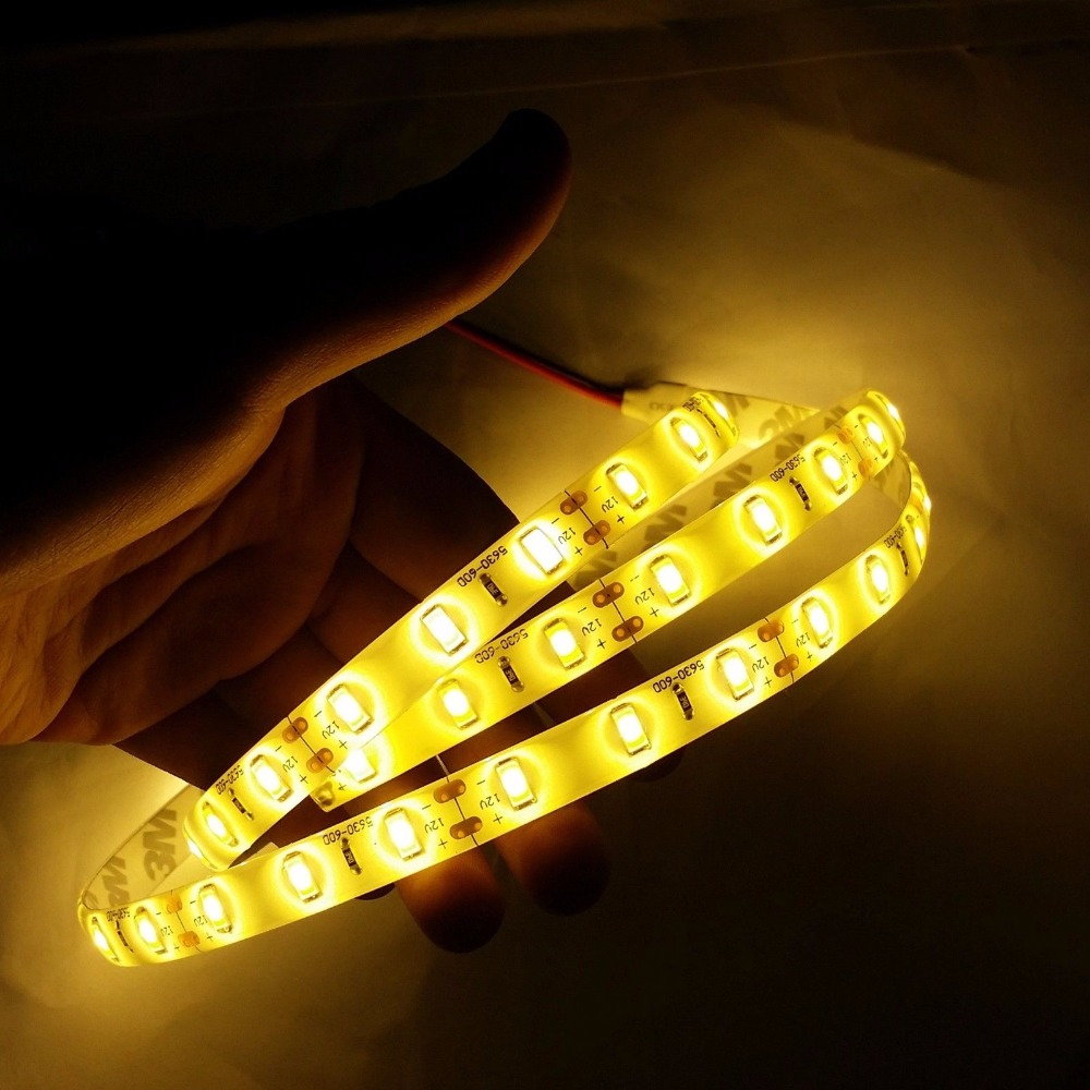 1/5m led strip light 5630 smd fexbile tape 60leds non-waterproof ip20 or waterproof ip65 fita de white,warm white,blue,green,red