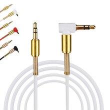 3,5 мм разъем стерео 1 м/3.28ft аудио кабель папа-папа 90 градусов правый угол Aux кабель провод шнур с пружинной защитной крышкой#30