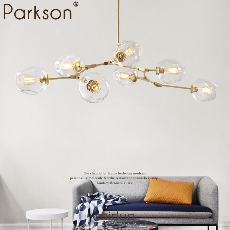 Modern Glass Branching Bubble Glass Pendant Lights lamp Nordic Dining Room Kitchen Light Designer Hanging Lamps Avize Lighting