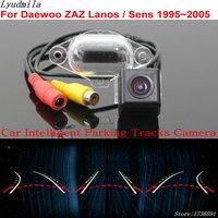 Lyudmila Car Intelligent Parking Tracks Camera FOR Daewoo ZAZ Lanos / Sens 1995~2005 HD CCD Car Back up Reverse Rear View Camera