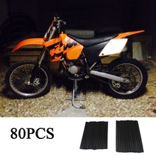KEMiMOTO For kawasaki 250 Motocross Dirt Bike Wheel RIM Spoke Skins For kawasaki kx 250 For