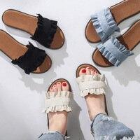 Для женщин обувь Для женщин Тапочки женские туфли на плоской подошве летние пляжные шлёпанцы Вьетнамки Сандалии модные дамские шлепанцы до