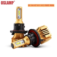 Olsamp 72w Pair H4 H13 H7 9005 HB3 9006 HB4 H11 COB Chips LED Headlight Bulb
