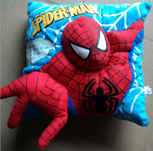 New Arrival Original Movie Spider Man Cushion Pillow Soft Plush Toy Doll Birthday Christmas Children Boy Gift Home Car Use