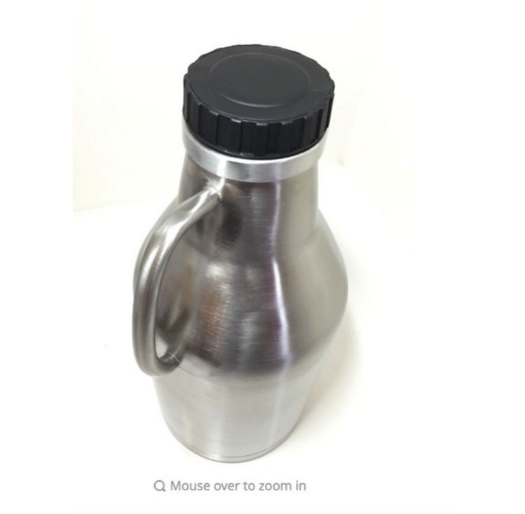 64oz Vaccume Insulated Double Walled Stainless Steel Growler With Handle Beer Beer Growler 1.9 Liter