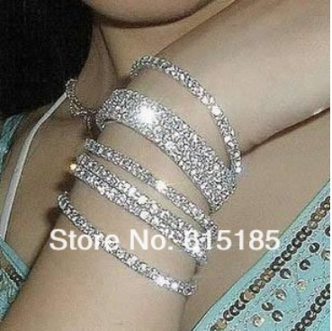 9 Row Tennis Bracelet Multilayer Bracelets B0150 Crystal Rhinestone Bangle Free Shipping In Strand From Jewelry Accessories