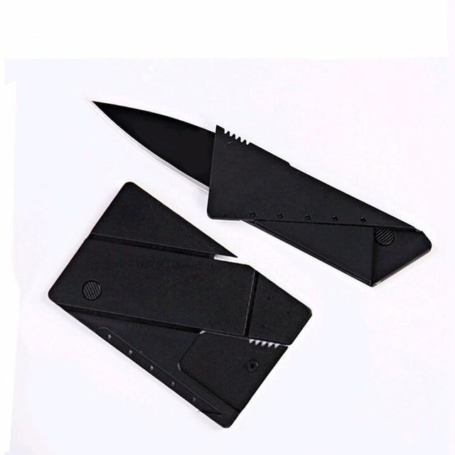 Kredi kartı bıçak katlanır bıçak paslanmaz çelik bıçak Cüzdan bıçaklar survival kamp aracı taktik mini el araçlar çakı
