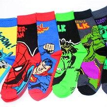 Европейский популярный стиль мстители Супер носки с героями Бэтмен Человек-паук длинные носки мужские брендовые крутые Лыжные носки