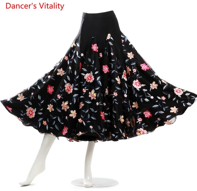 2018 юбки для бальных танцев на заказ, платье с вышивкой, Бальное стандартное танцевальное платье для женщин, бесплатная доставка