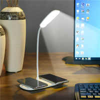 phone qi wireless charger led lamp desk multifunctional mobile device for iphone xs max x samsung galaxy s9 s8 phone charger pad