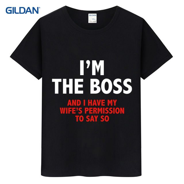 Im The Boss Husband Wife Rules Gift Idea Birthday 2017 T Shirt Online For Mens Summer Short Latest Tee