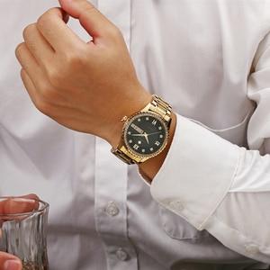 Image 3 - WWOOR שבוע שעון גברים יוקרה יום תאריך Mens שעוני יד עמיד למים גברים נירוסטה שעונים קוורץ ספורט שעון מתנת צמיד