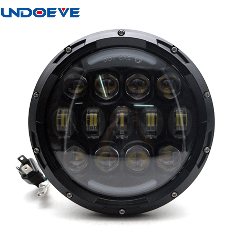 1pcs 7 inch Round 105W LED Headlight Projector for Harley Davidson Motorcycle Ultra Classic Electra Street Glide Touring