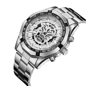 2018 Новые автоматические часы мужские классические прозрачные скелет Механические часы Мужской Военная часы Relogio Masculino