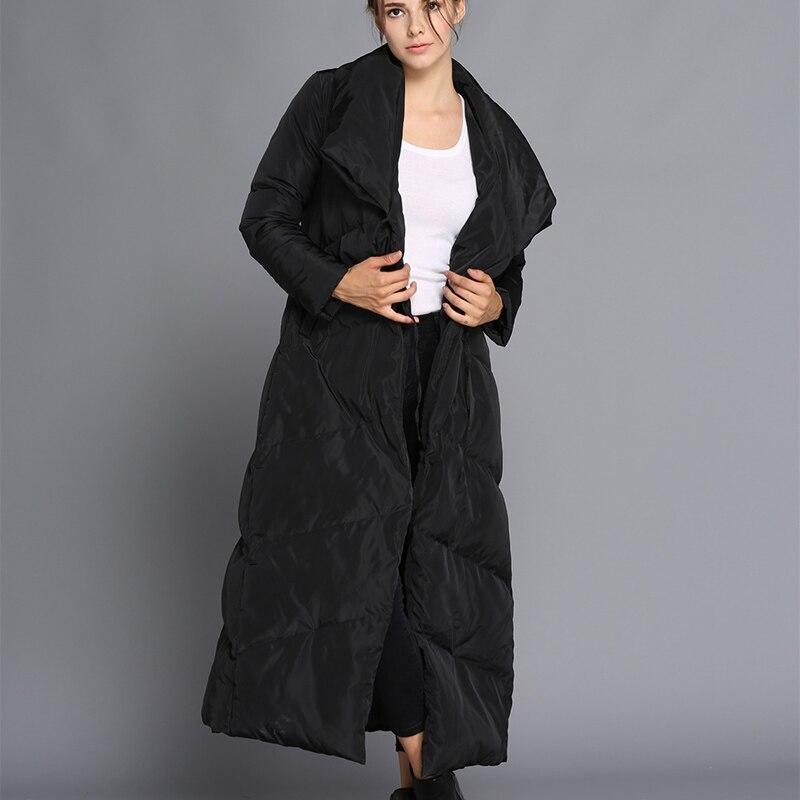 Taille Coréenne De Ms Automne Longue Paragraphe Ink black Femme Green Grande D'hiver Casual Hiver Manteau Version Doudoune Section OrOAwq