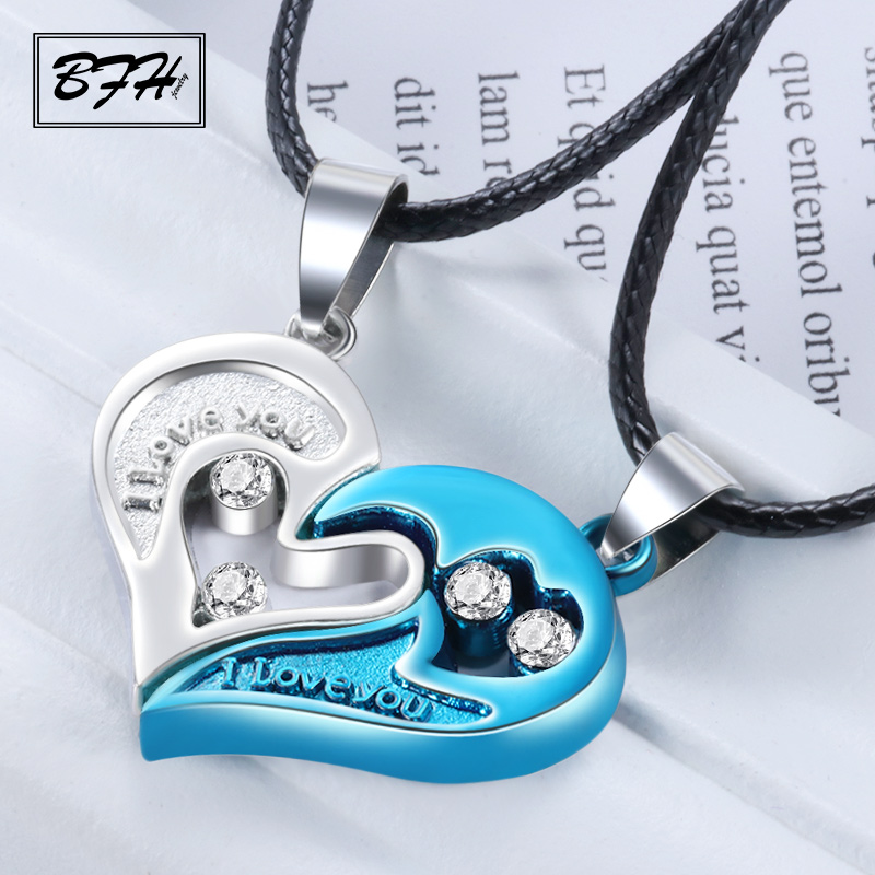 Fashion Luxury Crystal Heart Pendant Necklaces Decoration for Women Men Vintage Charm Rhinestone Long Necklace Jewelry Gift