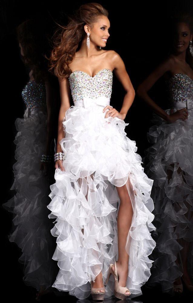 Aliexpress.com : Buy Elegant Sweetheart Royal Blue White High Low ...