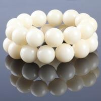 Fashion Natural White Bodhi 16 17mm Beads Men Bracelets Bangle For Women Religious Gift Charm Buddha