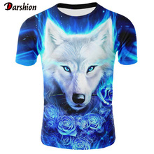 2019 Newest Wolf 3D Print T-Shirt Animal Cool Funny