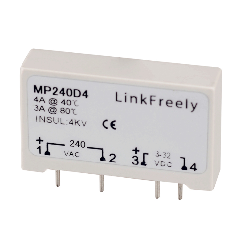 MP240D4 SPST PCB Mount Solid State Relay 4Pin PLC SSR 24V 280VAC Output Input 3V 3 3V 5V 12V 24VDC Voltage Relay Switch Module in Relays from Home Improvement