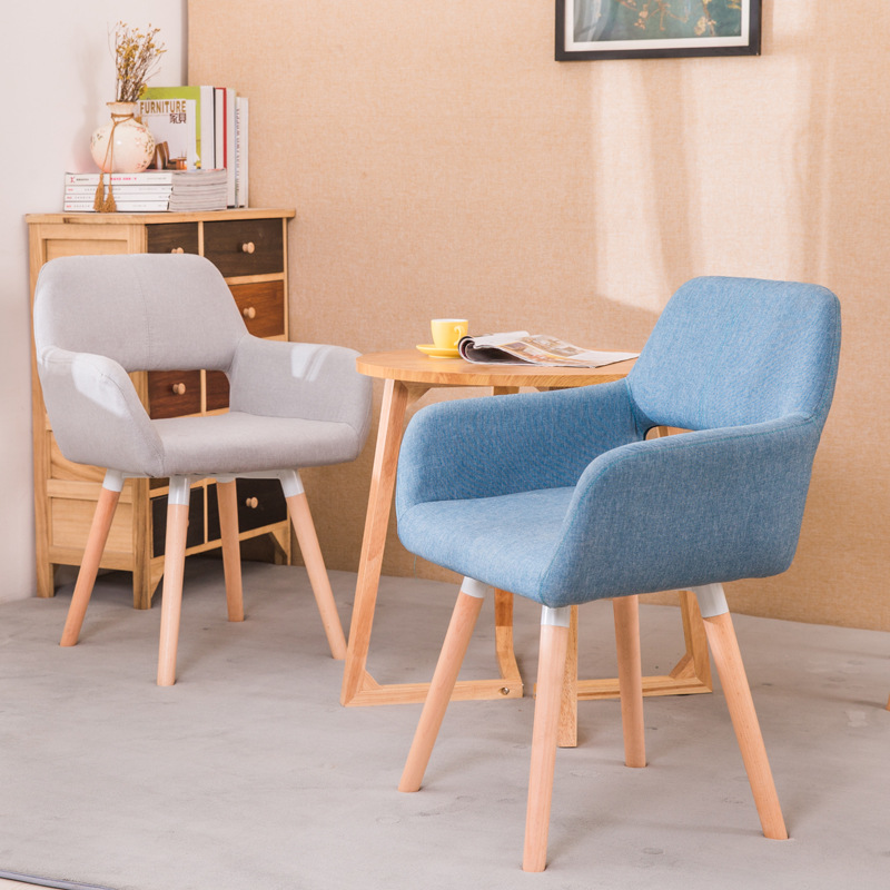 Solid Wood Family Restaurant Chair Modern Minimalist Computer Chair Back-to-back Study Chair Nordic Lazy Casual Furniture