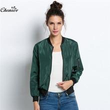 autumn fashion bomber jacket women long sleeve basic coats casual thin slim  short ma1 pilot bomber jackets