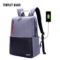 TINYAT Men S Backpack Bag 15 16 Inch Laptop Backpacks Men Male School Backpack Rucksacks For
