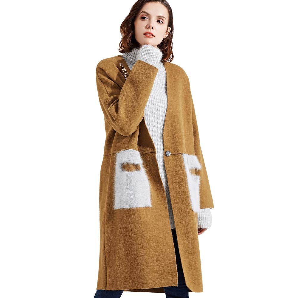 Mode Cardigans Long Qualité Occasionnels red Femmes Automne Haute Black Élégante De camel 171122 Nouveautés apricot Manteau 2019 Luxe Pour Pardessus z8Yqxq